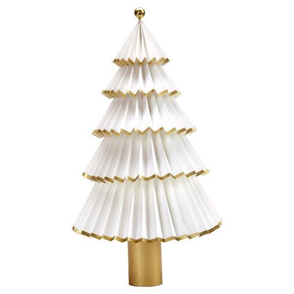 greengate papier weihnachtsbaum nova weiss gold 30cm. Black Bedroom Furniture Sets. Home Design Ideas