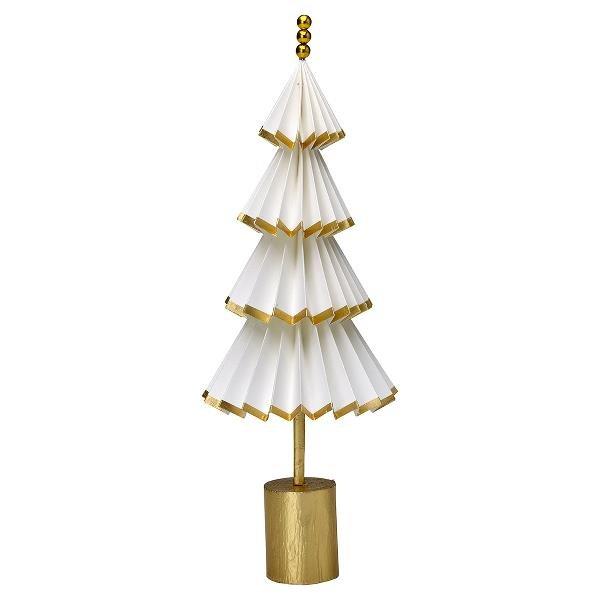 greengate papier weihnachtsbaum d nn nova weiss gold 40cm. Black Bedroom Furniture Sets. Home Design Ideas