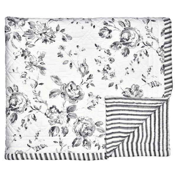 greengate quilt decke amanda dark grey 140 x 220 cm. Black Bedroom Furniture Sets. Home Design Ideas