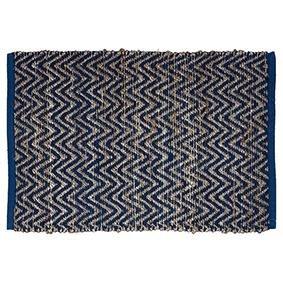 greengate teppich nora blue jute 60 x 90 cm. Black Bedroom Furniture Sets. Home Design Ideas