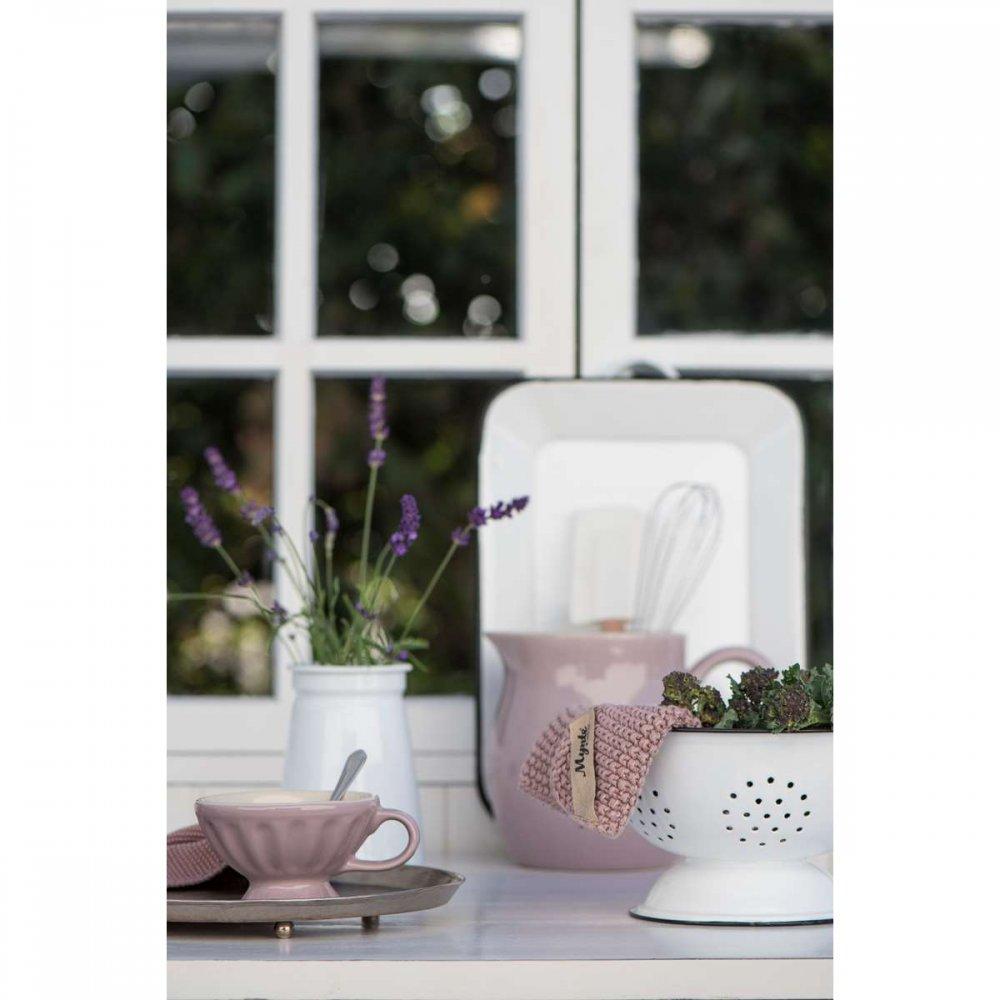 ib laursen vase emaille shabby weiss. Black Bedroom Furniture Sets. Home Design Ideas