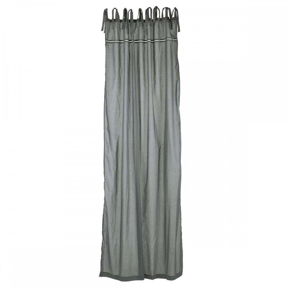 ib laursen vorhang zum binden grau. Black Bedroom Furniture Sets. Home Design Ideas