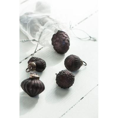 ib laursen weihnachtskugeln aubergine 10er set. Black Bedroom Furniture Sets. Home Design Ideas