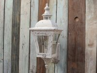 Chic Antique Wandlampe Shabby weiss