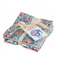 Tilda Fat Quarter Bundle Circus blue, 5er Set