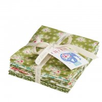 Tilda Fat Quarter Bundle Circus green, 5er Set