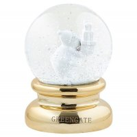 Greengate Schneekugel gold gross