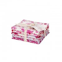 Tilda Fat Quarter Bundle Cottage Plum & Red, 5er Set
