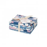 Tilda Fat Quarter Bundle Cottage blue, 5er Set