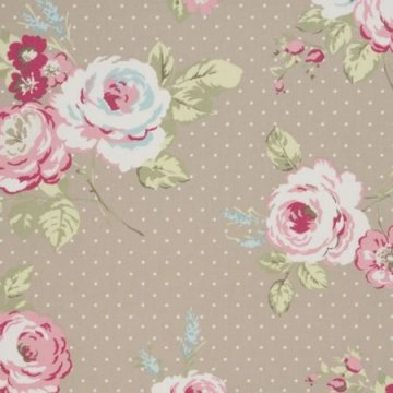 Clarke & Clarke Wachstuch English Rose taupe