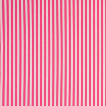Clarke & Clarke Wachstuch Party Stripe raspberry