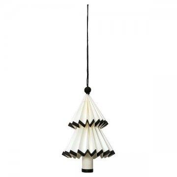 greengate papier weihnachtsbaum nova weiss schwarz h ngend. Black Bedroom Furniture Sets. Home Design Ideas