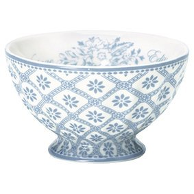 Greengate Schale (French Bowl) Bianca dusty blue