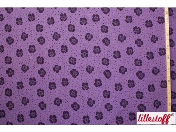 Lillestoff Jersey Stoff Big Flowers purple