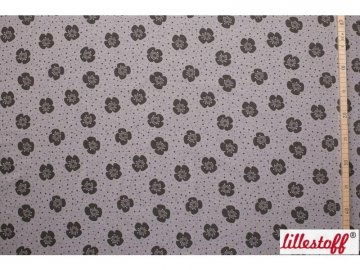 Lillestoff Jersey Stoff Big Flowers warmgrey