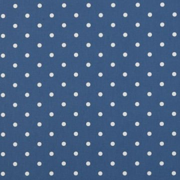 Clarke & Clarke Wachstuch Dotty denim