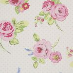 Clarke & Clarke Wachstuch English Rose chintz