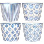 IB Laursen Becher Casablanca blau, 4er Set