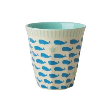 Rice Melamin Kids Becher small Whales and Starfish