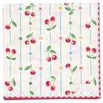 Greengate Papier-Servietten klein Cherry white