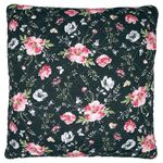Greengate Quilt-Kissenhülle Meadow black 50 x 50 cm