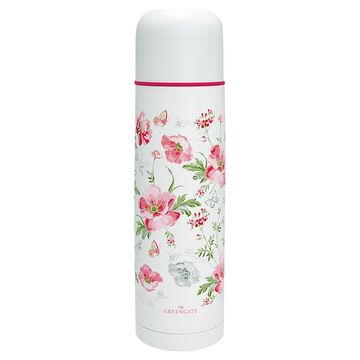 Greengate Thermosflasche Meadow white gross 800 ml