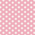 Tilda Stoff Medium Dots Pink