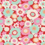 Tilda Fat Quarter Boogie Flower Red