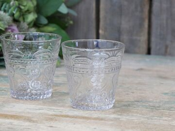 Chic Antique Trinkglas Antoinette clear mit Muster