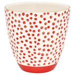 Greengate Becher Dot red mit Goldrand