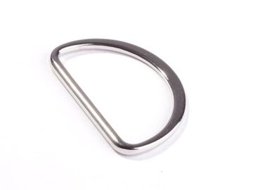 D Ring 40 mm silber