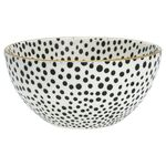 Greengate Schale medium Dot black mit Goldrand