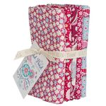 Tilda Fat Quarter Bundle Bird Pond Raspberry/Maroon