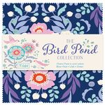 Tilda Charm Pack Bird Pond cool colors