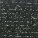 Michael Miller Stoff Love Note Black