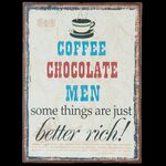 Clayre & Eef Metallschild Coffee Chocolate Men