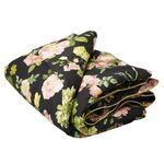 Rice Quilt Dark Rose mit Goldrand