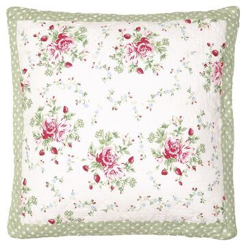 Greengate Quilt-Kissenhülle Mary white, 50 x 50 cm