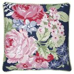 Greengate Kissenhülle Rose dark blue piece printed, 50 x...