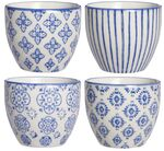IB Laursen Mini Becher Casablanca blau, 4er Set