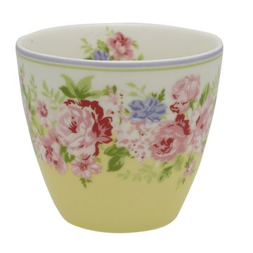 Greengate Latte Cup Rose pale yellow