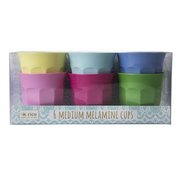 Rice Melamin Becher - Set medium Classic Colors, 6er Set