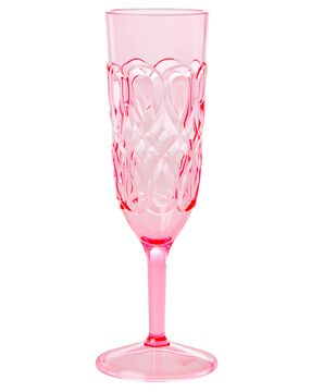 Rice Champagnerglas Acryl Swirly Embossed, pink