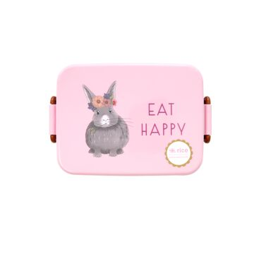 Rice Plastik Lunchbox Eat Happy Farm Animals Hase