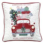 Greengate Kissenhülle Christmas car red, 40 x 40 cm