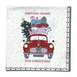 Greengate Papier-Servietten klein Christmas Car red