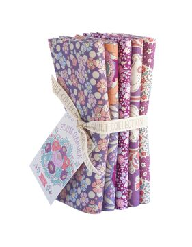Tilda Fat Quarter Bundle Plum Garden, plum