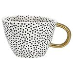 Greengate Tasse (Mug) Dot black with gold