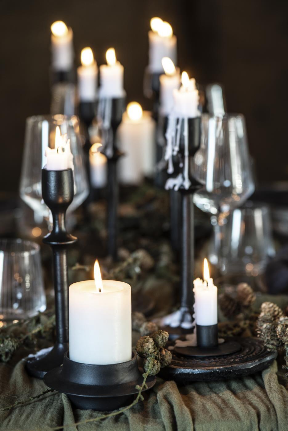 Ib Laursen Kerzenhalter Für Stumpenkerze Schwarz