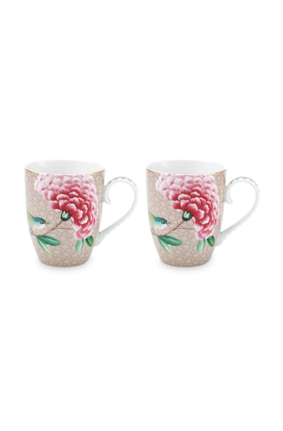 Pip Studio Tassen : pip studio tassen set mug large blushing birds khaki 350 ml ~ Watch28wear.com Haus und Dekorationen
